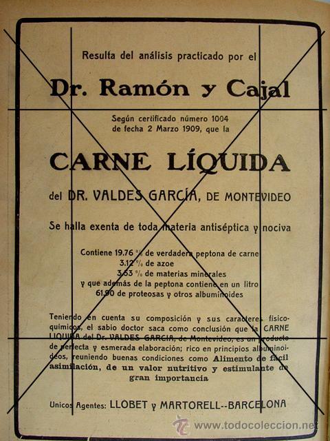 Coleccionismo: (1910-1919) RELOJES CON PULSERA ORO-CARNE LIQUIDA DR. VALDES.LLOBET MARTORELL BARCELONA - Foto 2 - 44998192