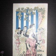 Coleccionismo: MASNOU - FESTA DE SANT PERE - ANY 1920 - (V- 1222). Lote 45204158