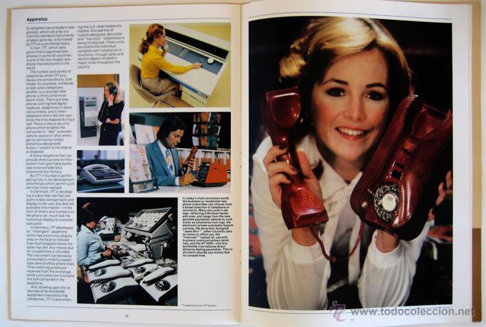 Coleccionismo: Folleto de ITT con foto (de 1928) de inauguración del servicio telefónico entre España y USA - Foto 7 - 45230072