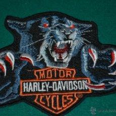 Coleccionismo: PARCHE BORDADO BANDERA MOTOR HARLEY - DAVIDSON. Lote 45232269