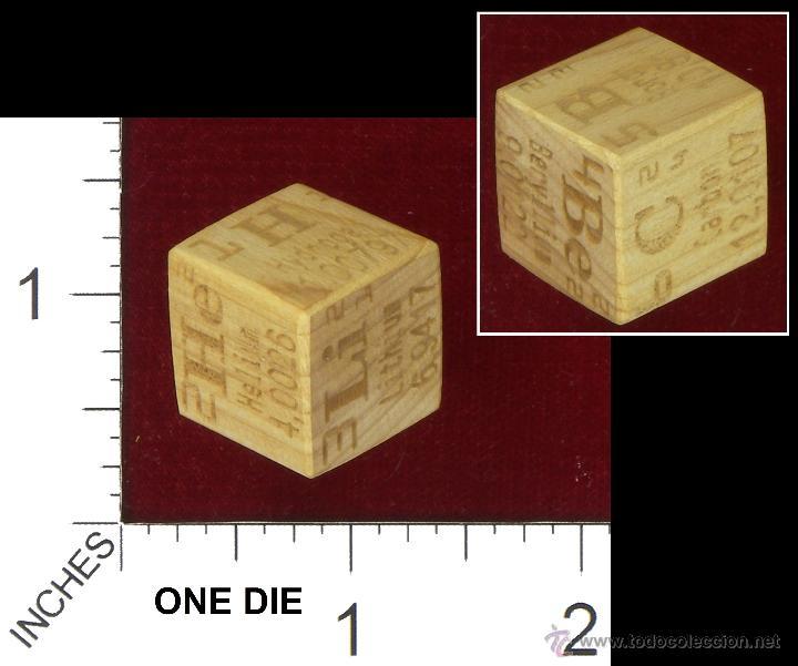 Juego dados madera cipres elementos tabla perio comprar en juego dados madera cipres elementos tabla periodica coleccionismos varios urtaz Image collections