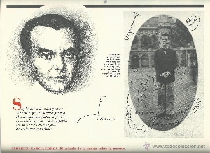Coleccionismo: ALMANAQUE CULTURAL CON RETRATOS Y BIOGRAFIA DE GRANDES AUTORES NUEVO 1988 - Foto 10 - 45327688