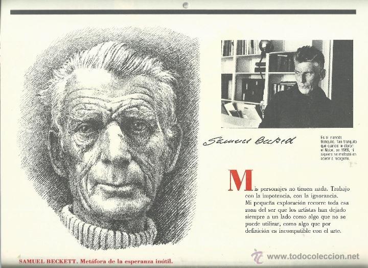 Coleccionismo: ALMANAQUE CULTURAL CON RETRATOS Y BIOGRAFIA DE GRANDES AUTORES NUEVO 1988 - Foto 14 - 45327688