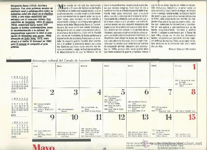 Coleccionismo: ALMANAQUE CULTURAL CON RETRATOS Y BIOGRAFIA DE GRANDES AUTORES NUEVO 1988 - Foto 19 - 45327688