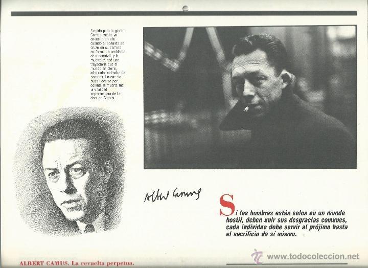 Coleccionismo: ALMANAQUE CULTURAL CON RETRATOS Y BIOGRAFIA DE GRANDES AUTORES NUEVO 1988 - Foto 24 - 45327688