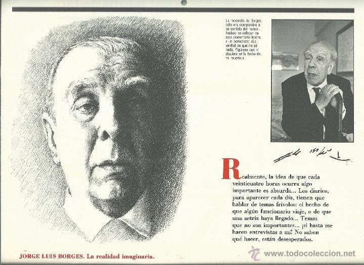 Coleccionismo: ALMANAQUE CULTURAL CON RETRATOS Y BIOGRAFIA DE GRANDES AUTORES NUEVO 1988 - Foto 27 - 45327688