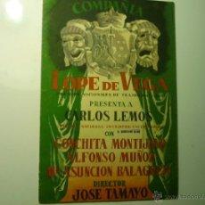 Coleccionismo: PROGRAMA TEATRO COMPAÑIA LOPE DE VEGA .-8 PAG. DESPLEGABLE --DIRECCIÓN JOSE TAMAYO --BB. Lote 45406130