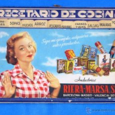 Coleccionismo: RECETARIO DE COCINA. INDUSTRIAS RIERA MARSA.. Lote 45408578