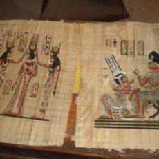 Coleccionismo: ANTIGUOS PAPIROS EGIPCIOS PINTADOS A MANO . AÑOS 80. Lote 45413046