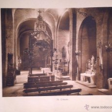Coleccionismo: LÁMINA FOTOGRAFICA AÑOS 50 APROX TRANSEPTO IGLESIA ROMÁNICA CATALANA, TAMAÑO FOLIO. Lote 45481839