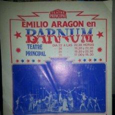 Coleccionismo: MH11//BARNUM//PROGRAMA DE TEATRO//EMILIO ARAGON. Lote 45557801