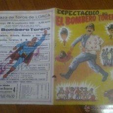 Collezionismo: PLAZA DE TOROS DE LORCA MURCIA EL BOMBERO TORERO 1980. Lote 45577437