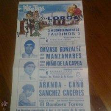 Collezionismo: PLAZA DE TOROS DE LORCA MURCIA DAMASO GONZALEZ MANZANARES NIÑO DE LA CAPEA 1978. Lote 45577565