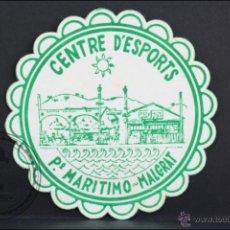 Coleccionismo: POSAVASOS PUBLICITARIO TROQUELADO - CENTRE D'ESPORTS. MALGRAT - 9 CM DE DIÁMETRO. Lote 45592211
