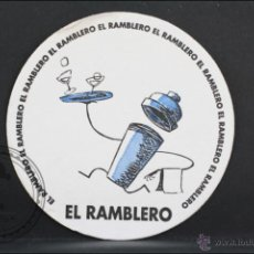 Coleccionismo: POSAVASOS PUBLICITARIO CIRCULAR - EL RAMBLERO - 9 CM DIÁMETRO. Lote 45593106