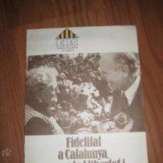Coleccionismo: ESQUERRA REPUBLICANA DE CATALUNYA LLIBRET. Lote 45609617