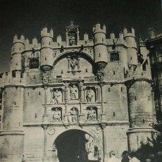 Coleccionismo: BURGOS ARCO DE SANTA MARIA ANTIGUO HUECOGRABADO AÑOS 40. Lote 45693772