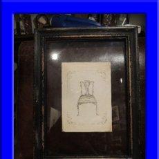 Coleccionismo: CUADRO DE SILLA ENMARCADA ENTRE CRISTALES. Lote 38019769