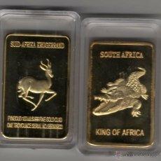 Coleccionismo: AFRICA, LINGOTE CON ORO DE 24 KTES. COCODRILO, LIQUIDACION. Lote 233416000
