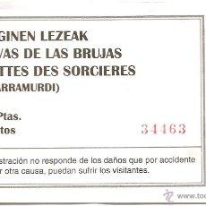 Coleccionismo: ENTRADA CUEVAS DE LAS BRUJAS, ZUGARRAMURDI, NAVARRA. Lote 46003526
