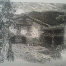Coleccionismo: LAMINA CASERIO DE GANTZAGA ZUYA ALAVA. Lote 46012022