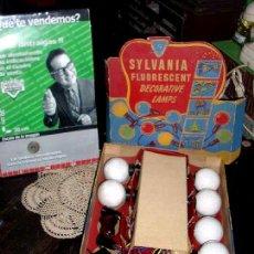 Coleccionismo: ANTIGUAS GIRNALDAS LUCES NAVIDEÑAS MUY COLECCIONABLE SYLVANIA MADE IN USA AÑO 1948 INCOMPLETA. Lote 46049201
