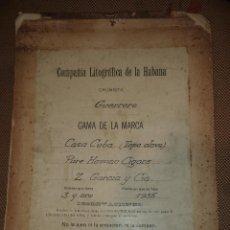Coleccionismo: LITOGRAFICA Y VISTA FINAL DE LA MARCA CASA CUBA. 1955. CROMISTA GUERRERO. LEER. Lote 46326055