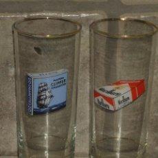 Coleccionismo: VASO,VASOS DE TUBO PUBLICITARIO MARLBORO Y PLAYERS CLIPPER CIGARETTES.HAY MUY POCOS.. Lote 46334820