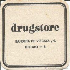 Coleccionismo: POSAVASO DRUGSTORE - BILBAO. Lote 46345198