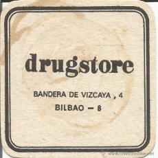 Coleccionismo: POSAVASO DRUGSTORE - BILBAO. Lote 46345460