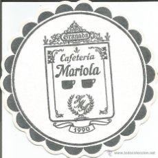Coleccionismo: POSAVASO CAFETERIA MARIOLA - GRANADA. Lote 46345475