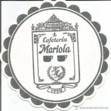 Coleccionismo: POSAVASO CAFETERIA MARIOLA - GRANADA. Lote 46345989