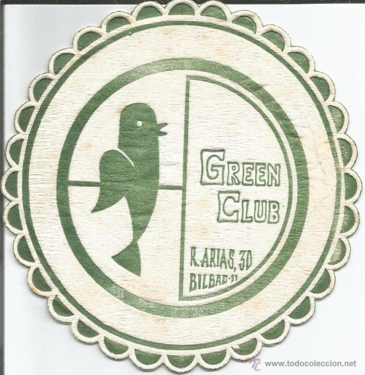 POSAVASO GREEN CLUB - BILBAO (Coleccionismo - Varios)