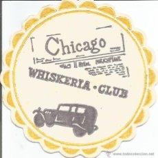 Coleccionismo: POSAVASO WHISKERIA CLUB - CHICAGO. Lote 92793037