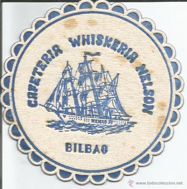 POSAVASO CAFETERIA WHISKERIA NELSON - BILBAO (Coleccionismo - Varios)