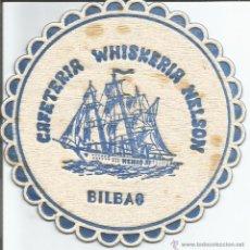 Coleccionismo: POSAVASO CAFETERIA WHISKERIA NELSON - BILBAO. Lote 46347279