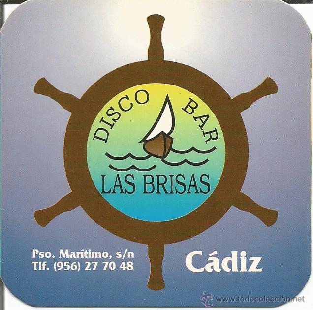 POSAVASO DISCO BAR LAS BRISAS - CADIZ (Coleccionismo - Varios)