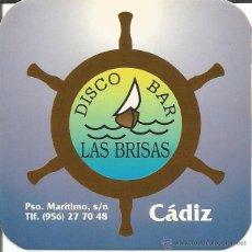 Coleccionismo: POSAVASO DISCO BAR LAS BRISAS - CADIZ. Lote 46347374