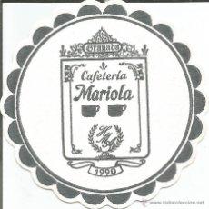 Coleccionismo: POSAVASO CAFETERIA MARIOLA - GRANADA. Lote 46347383