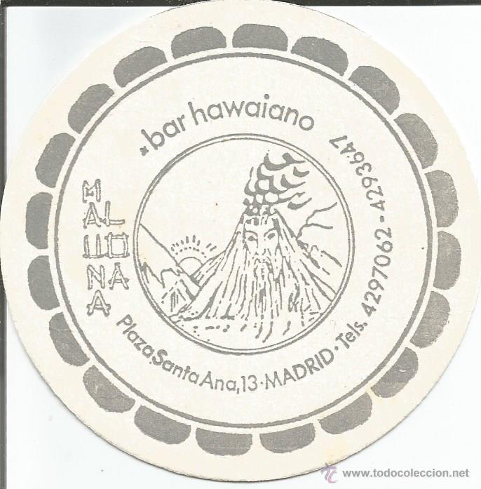 POSAVASO BAR HAWAIANO - MADRID (Coleccionismo - Varios)