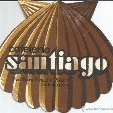 Coleccionismo: POSAVASO CAFETERIA SANTIAGO - ZARAGOZA. Lote 46348687