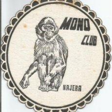 Coleccionismo: POSAVASO MONO CLUB - NAJERA. Lote 89723374