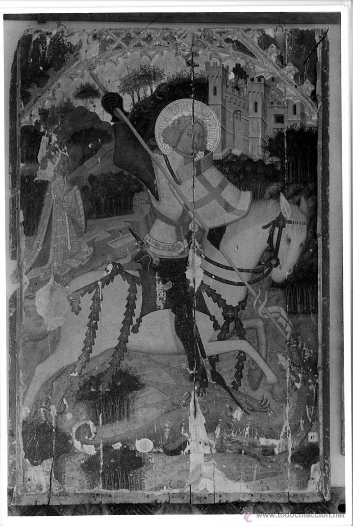 FOTOGRAFIA RETABLO GOTICO SAN JORGE (SANT JORDI) IGLESIA INCA MUSEO EPISCOPAL DE PALMA DE MALLORCA (Coleccionismo - Laminas, Programas y Otros Documentos)