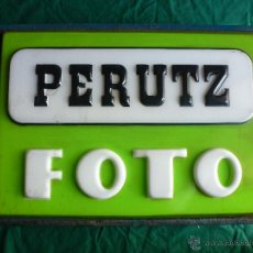 Coleccionismo: ANTIGUO CARTEL LUMINOSO. MATERIAL FOTOGRAFICO MARCA PERUTZ.. Lote 46385723
