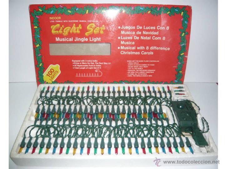 80317307cd8 Caja de 100 luces navideñas con música.años 90 - Vendido en Venta ...