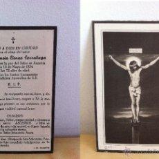 Coleccionismo: RECORDATORIO FALLECIMIENTO. DON ASCENSIO ELORZA LARRAÑAGA. AÑO 1954.. Lote 46407554