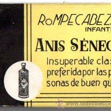 Coleccionismo: ANIS SENECA, ROMPECABEZA INFANTIL. LA MATA. UNION BODEGAS ANDALUZA, MALAGA. Lote 46500561