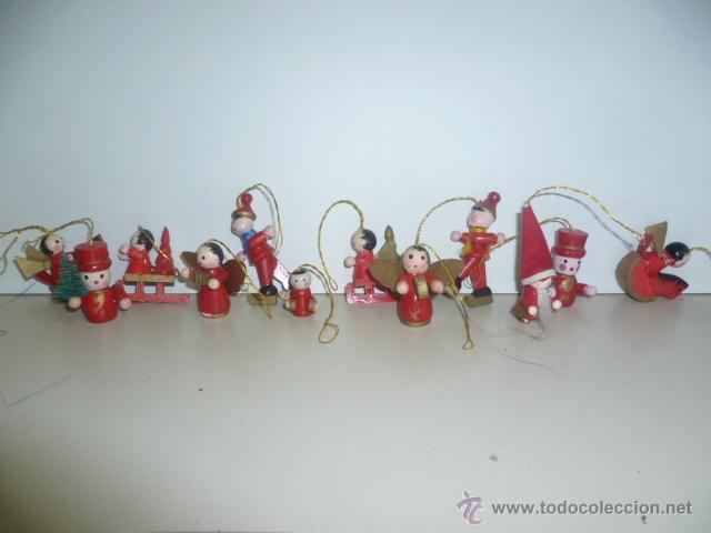 figuras de madera  adornos para rbol de navid  Comprar en
