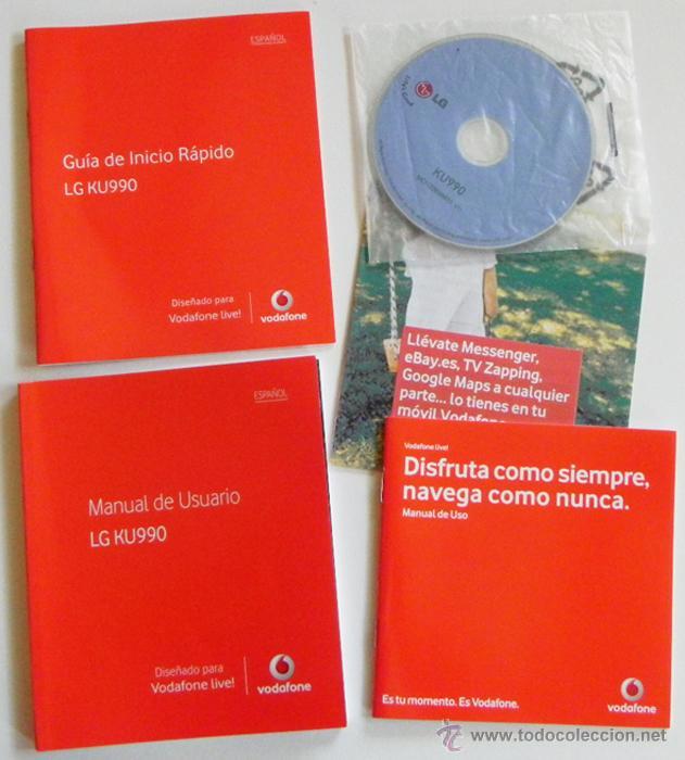 manual de instrucciones y disco del m vil lg ku comprar documentos rh todocoleccion net LG KU990 Mobile Phone LG Cookie