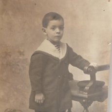 Coleccionismo: ANTIGUA FOTOGRAFÍA DE UN NIÑO DEL AÑO 1900.. Lote 46587400